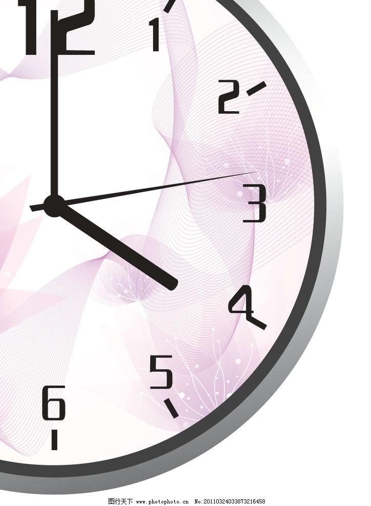 钟表 花山 线条 图形 方格 矢量图 鸟笼 玫瑰花朵 矢量素材