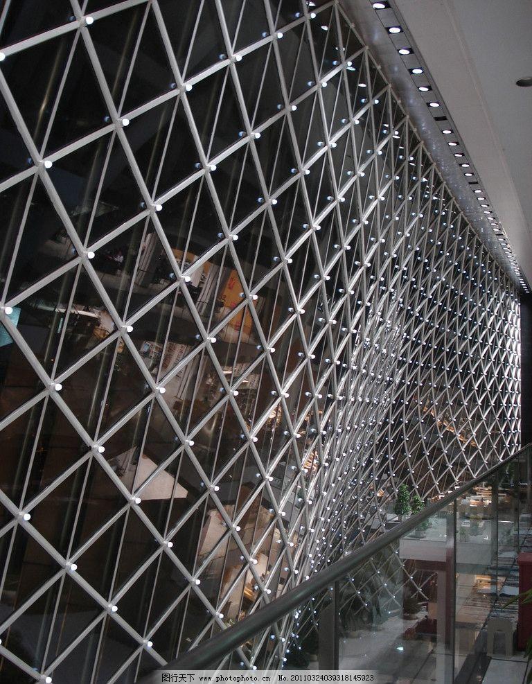 深圳图书馆内夜景 图书馆 夜景 钢架结构 网 建筑 室内 室内摄影 建筑
