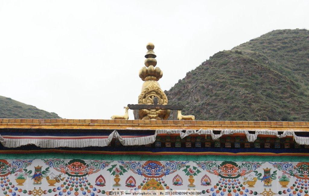 夏河拉卜楞寺 古建筑 寺院 藏族 佛教 文化 壁画 建筑摄影 建筑园林