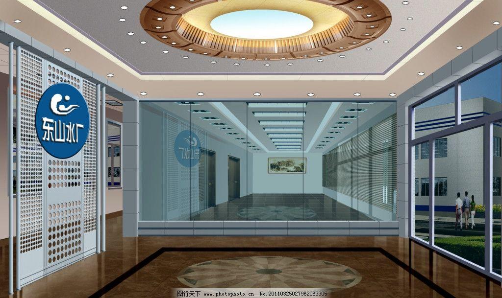 门厅设计        室内设计 环境设计 异形吊顶 玻璃隔断 形象墙 源