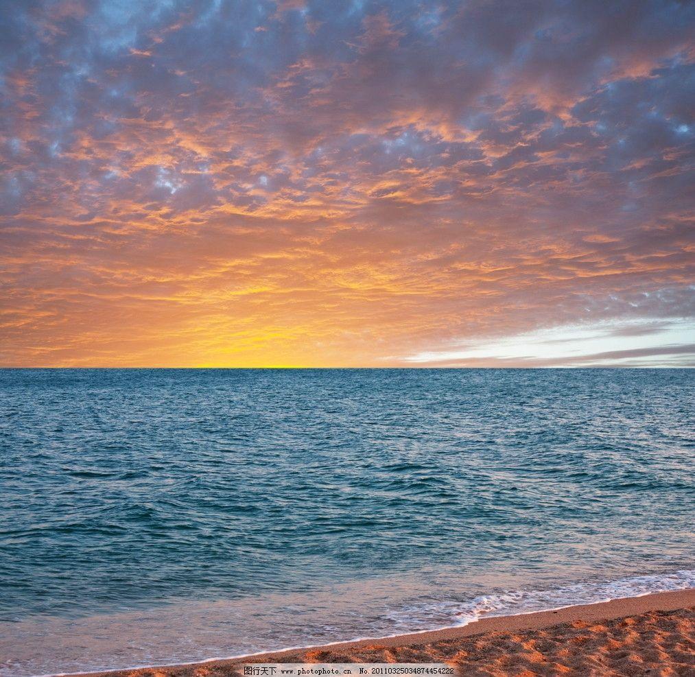 海滩海水风景 海洋 天空 云彩 风光 自然风景 自然景观 摄影