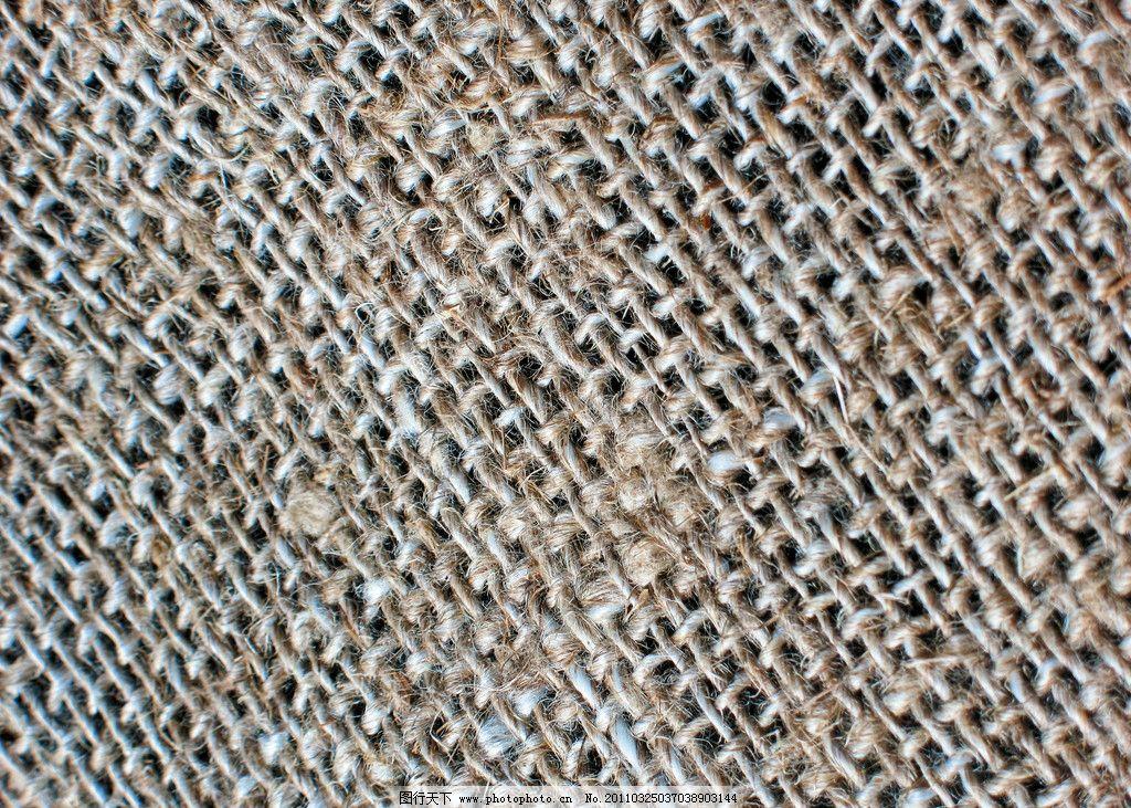 粗糙麻布纹理图片,粗布 亚麻 编织 纹路 布料 料子-图