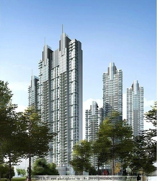 商业建筑效果图 建筑透视效果图 建筑效果图        公建效果图 商业