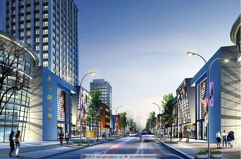公寓效果图 城市建筑 公共建筑 建筑外观 建筑外立面 建筑群 景观效果