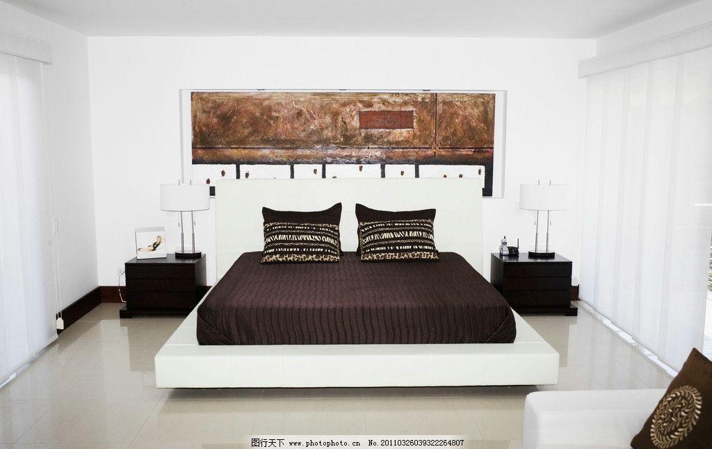 寝室 卧室 床 居室 房间 室内装潢 室内效果图 室内装饰 室内摄影