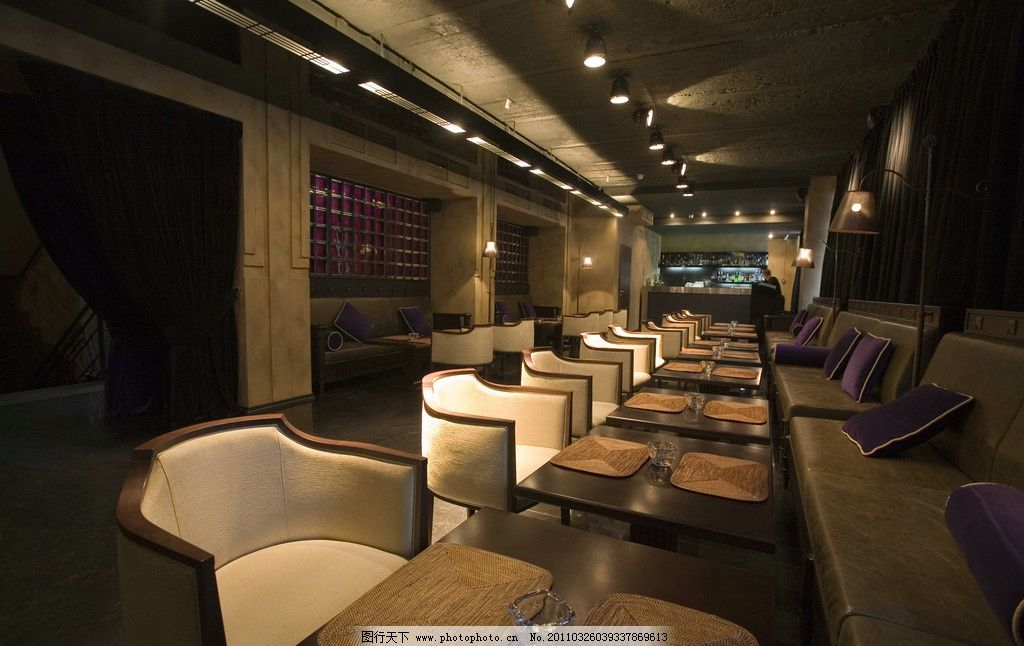 西餐廳室內設計 餐桌 餐椅