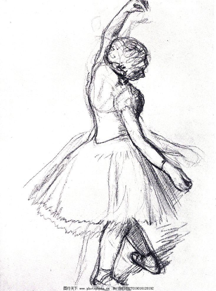 场景素描 法国画家 格勒兹 经典素描 素描 人物 老外 线描 线稿 线条