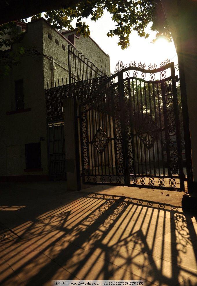 古典欧式建筑黄昏