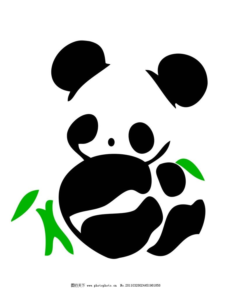 熊猫 野生动物 生物世界 矢量 ai