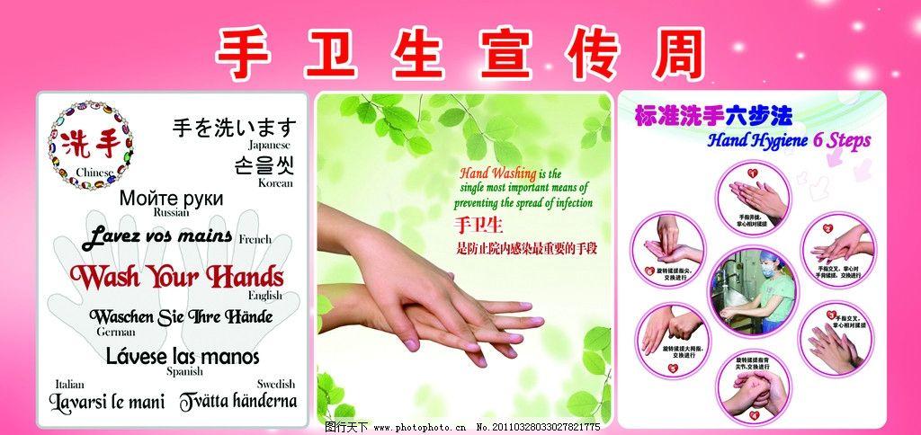 手卫生宣传 勤洗手 洗手的重要性 医院展板 细菌 放大细菌 洗手漫画