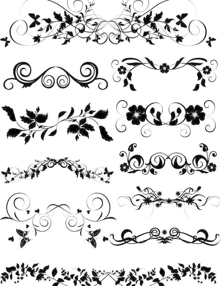 动感线条 花边 花纹 花纹花边 欧式边框 欧式花纹矢量素材 欧式花纹