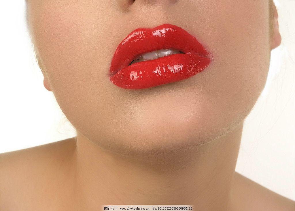 嘴角妆容手绘图片