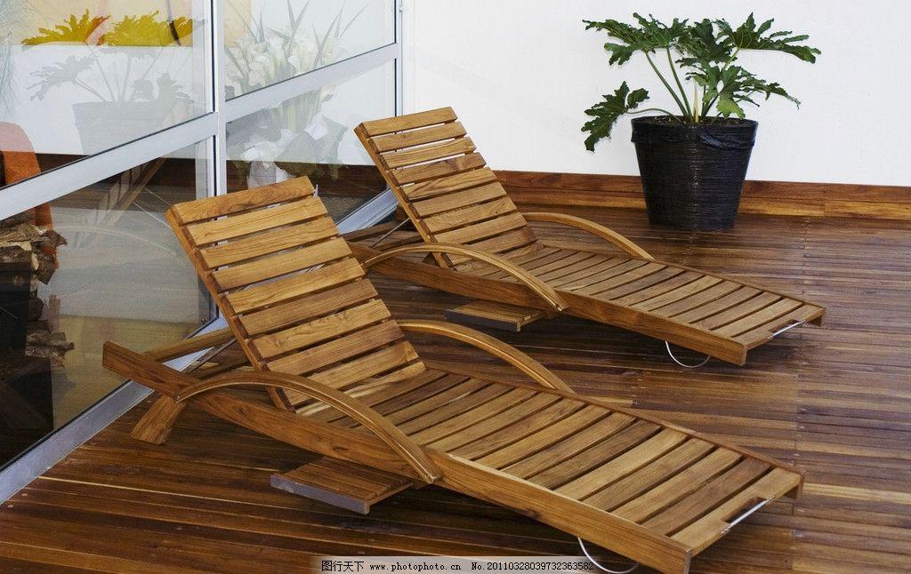 靠椅 室外摄影 休闲 藤椅 木地板 其他 建筑园林 摄影 300dpi jpg