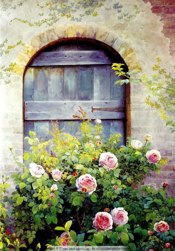 种满花草的房子图片