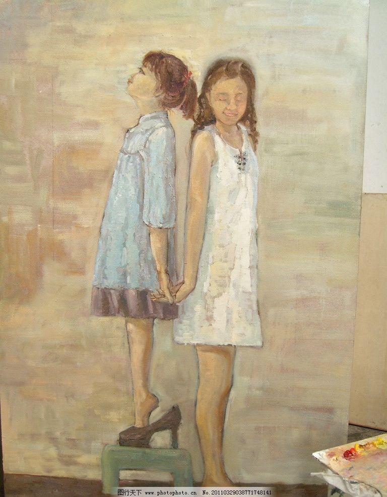 油画女孩 女孩 油画 少女 美女 艺术 绘画 美术绘画 文化艺术 摄影 96图片
