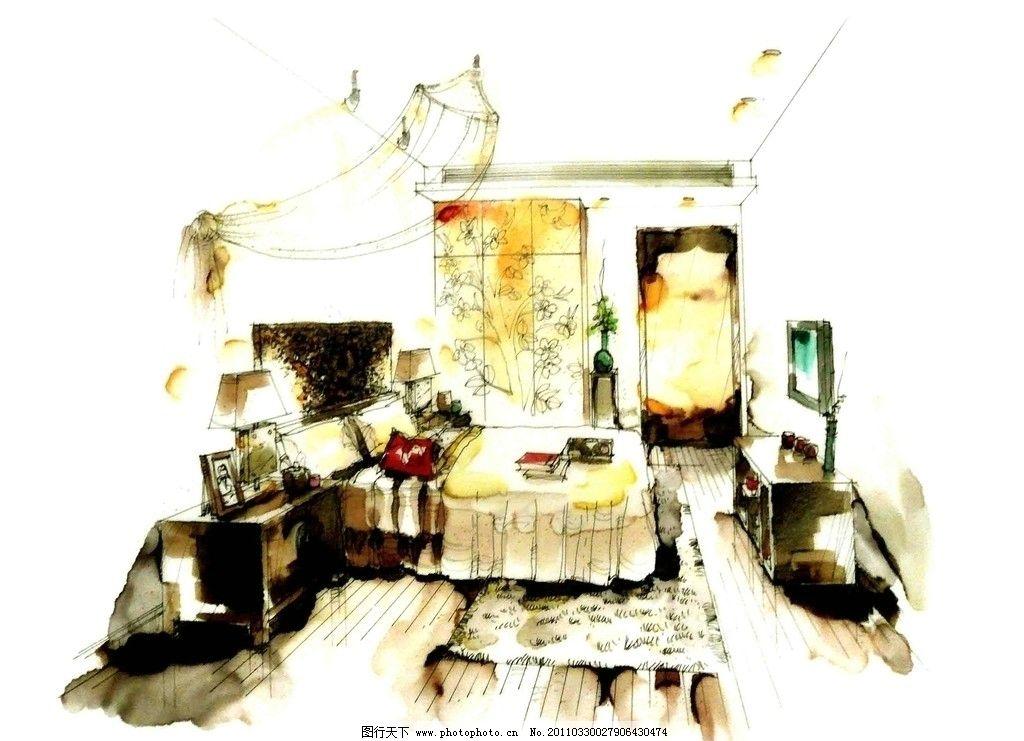 室内设计 手绘室内设计 手绘室内 麦克笔效果图 马克笔效果图 室内