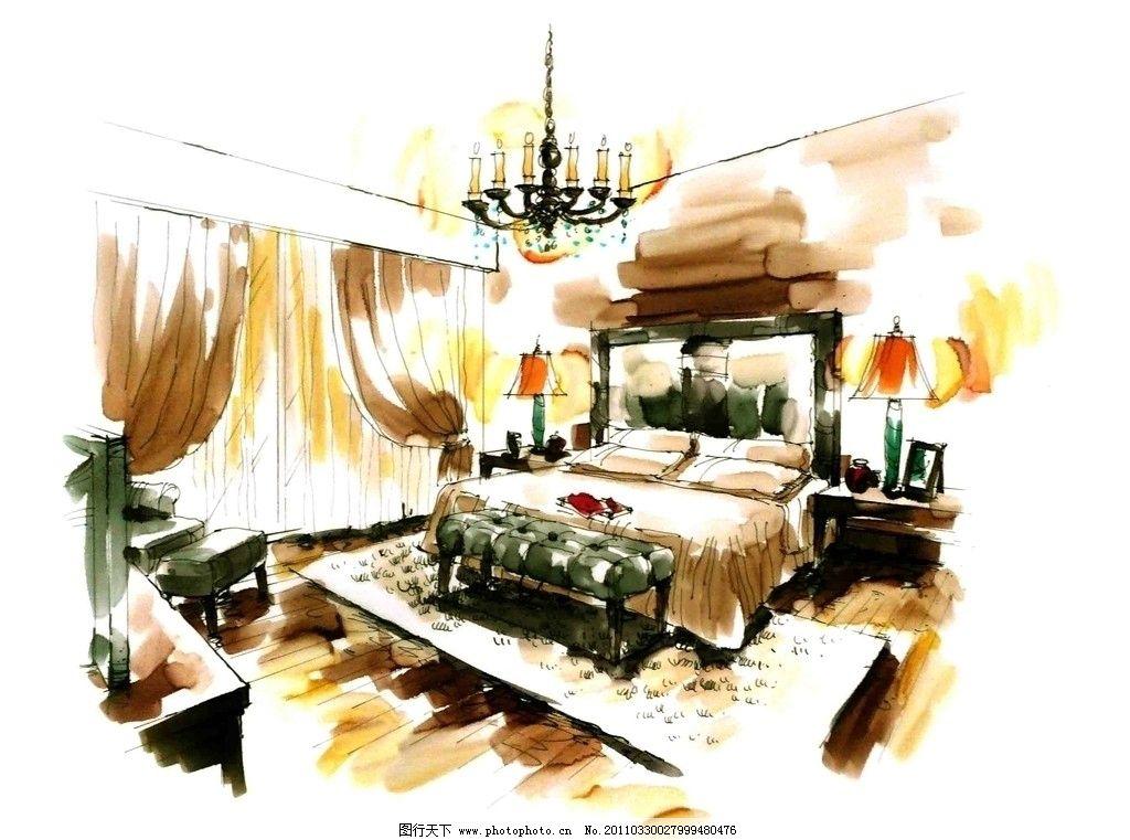 室内手绘单体 枕头