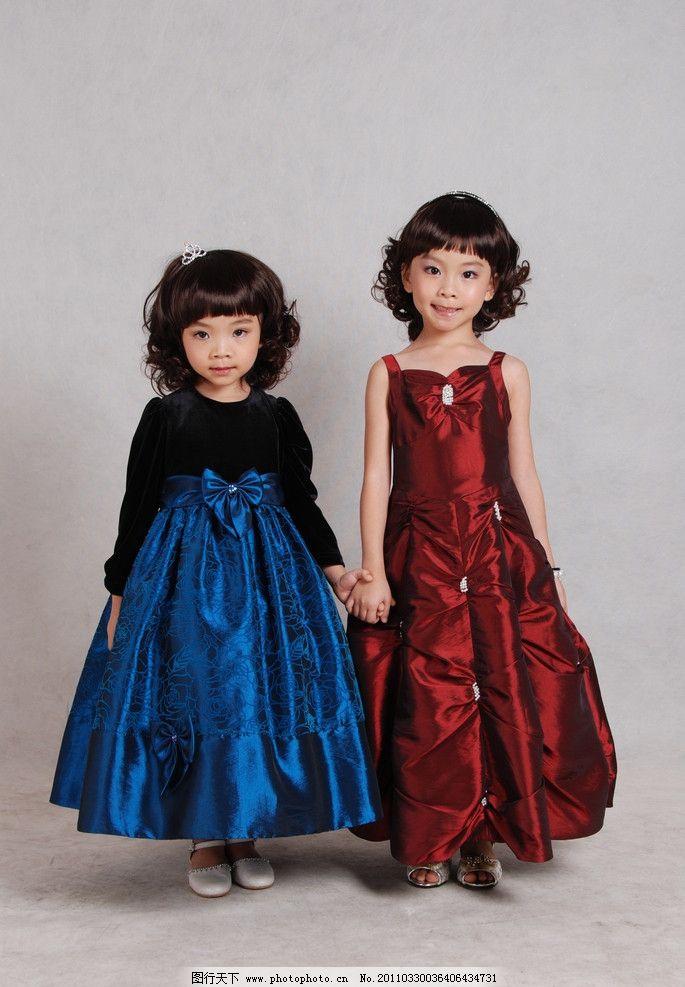 童装图片 公主裙 童装 漂亮可爱的小孩 儿童人物 童装素材 人物写真