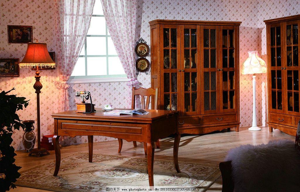 实木家具 家具 家居 红木家具 床 实木床 柜子 立式灯 桌子 饰品 装饰