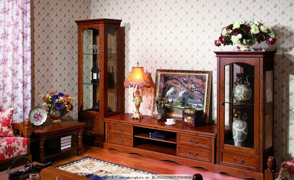 实木家具 家居 红木家具 矮柜 饰品柜 台灯 装饰 家居装饰 装饰素材