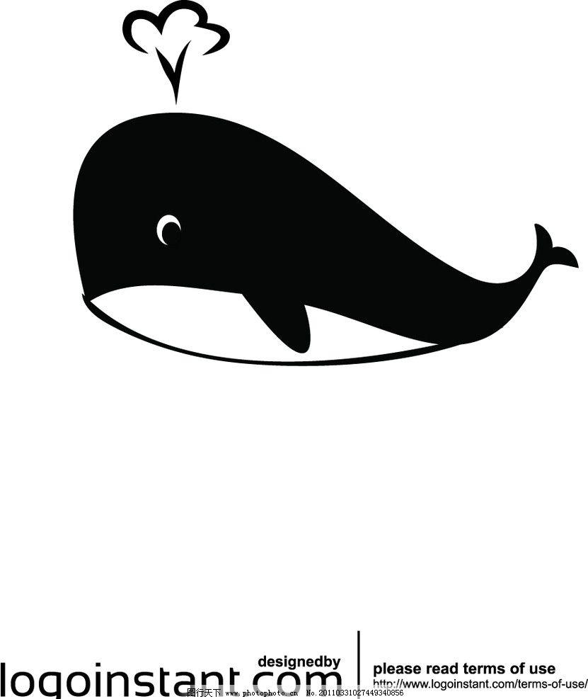 卡通鲸鱼 卡通 鲸鱼 喷水 海洋 生物 海洋生物 生物世界 矢量 ai