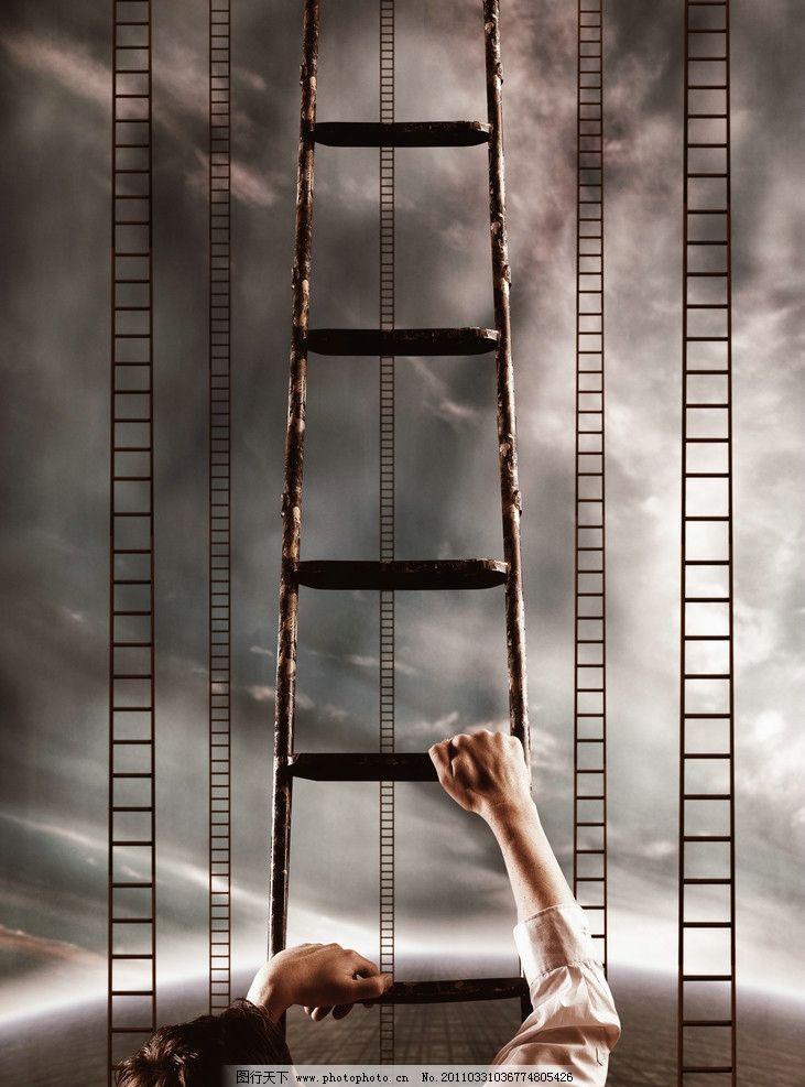 爬梯子的男人图片_男性男人_人物图库_图行天下图库