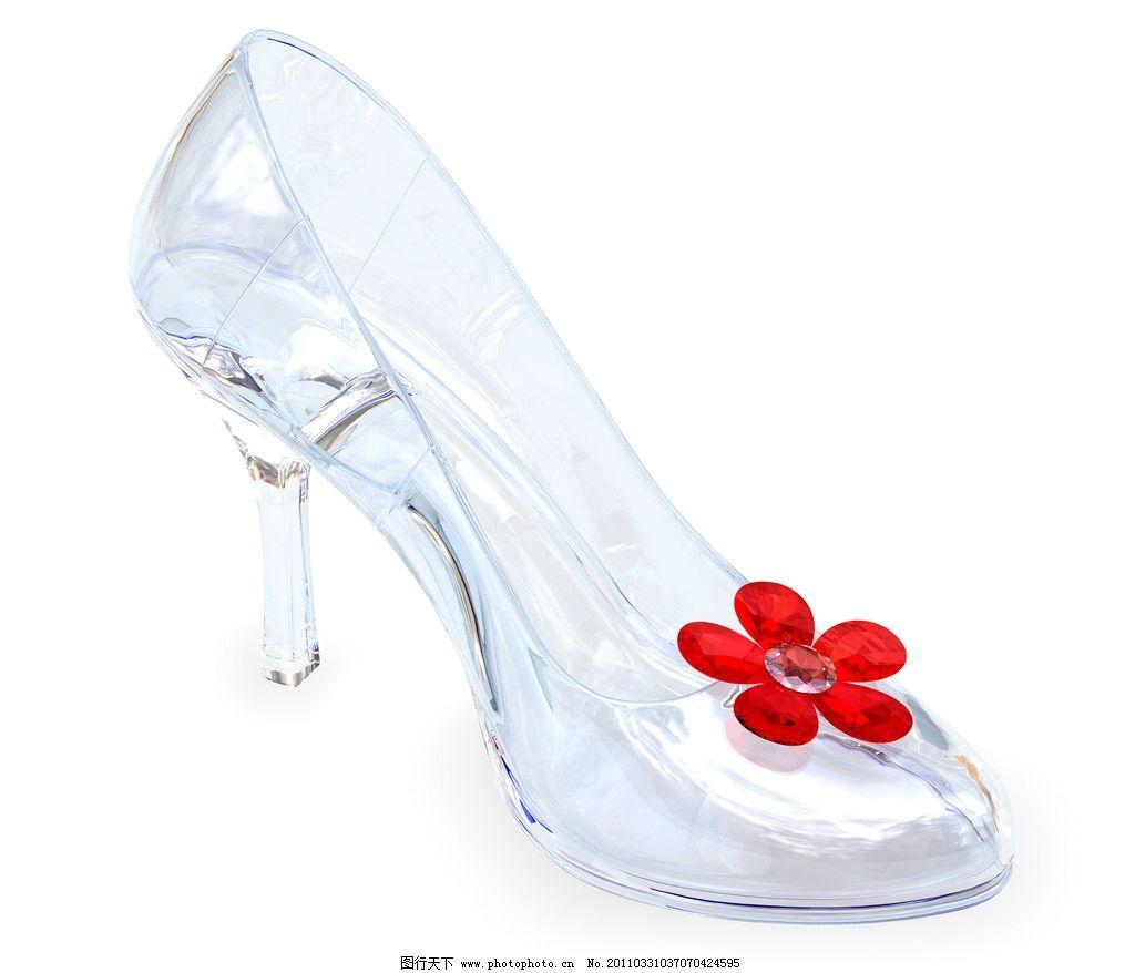 水晶鞋 高跟鞋 时尚鞋 漂亮 生活素材 摄影