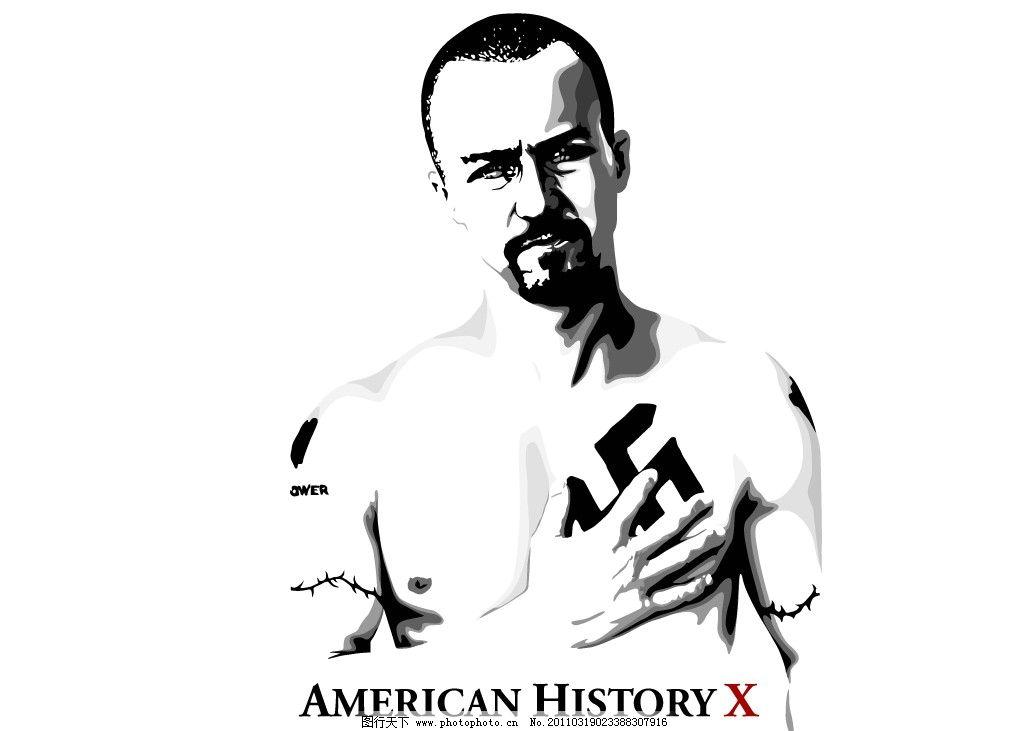 野兽良民,矢量图,爱德华·诺顿Edward,Norton,美国X档案,America,History